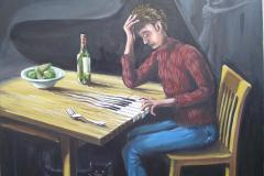Composing. (Sold)
